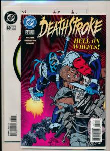 DC Comics DEATHSTROKE #59-60 Last Issues LOW PRINT Run 1996 NM (PF646)