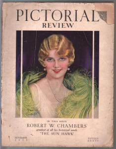Pictorial Review 11/1927-Earl Christy-Clara Bow-pulp fiction-fabulous ads-G-