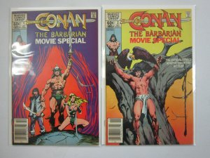 Conan the Barbarian Movie Special set #1+2 7.0 FN VF (1982)