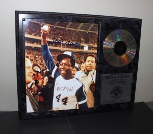 Hank Aaron 20th Anniversary Autographed Home Run Record Breaker Plaque