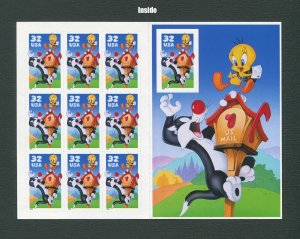 Looney Toons US postage stamps / Sylvester & Tweety /  1998