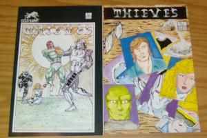 Thieves #1-2 VF/NM complete series - silverwolf comics set - kris silver 1986