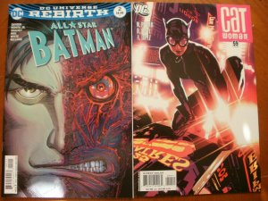 2 Near-Mint DC Comic: ALL-STAR BATMAN #2 (Rebirth) & CATWOMAN #59 (3rd Series)