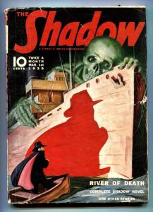 The Shadow Pulp March 1 1939- River of Death- Maxwell Grant vg