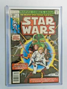 Marvel Movie Showcase Featuring Star Wars #1 water damage 4.0 VG (1977)