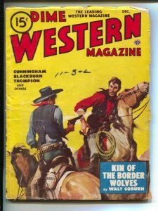 Dime Western-12/1948-Popular-Gerald McCann gunfight cover-pulp fiction & fun-VG