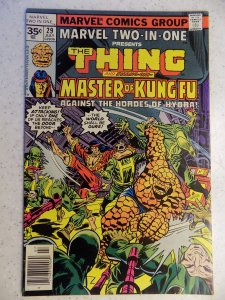 MARVEL TWO-IN-ONE # 29 THING MASTER OF KUNG-FU MOVIE ACTION ADVENTURE