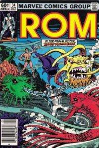 Rom (1979 series) #34, VF+ (Stock photo)