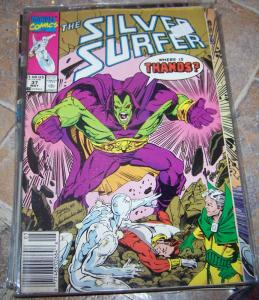 Silver Surfer # 37 may 1990  MARVEL  THANOS  + JIM STARLIN+ INFINITY GAUNTLET