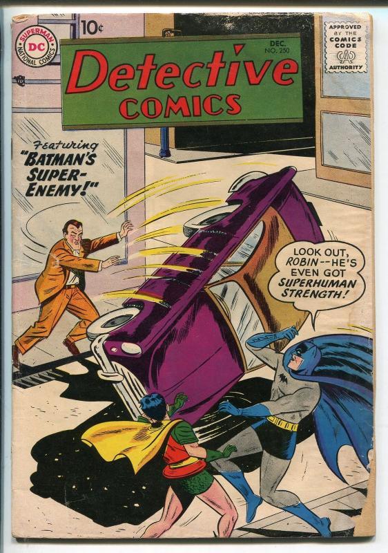 DETECTIVE 250 1958 DC COMICS BATMAN ROBIN JOHN JONES SUPER