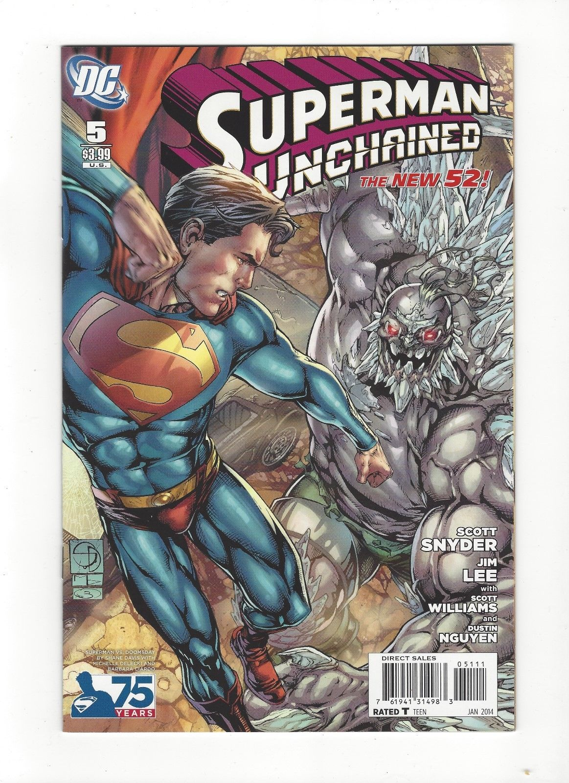 superman unchained 5 dc comics new 52 doomsday variant nm