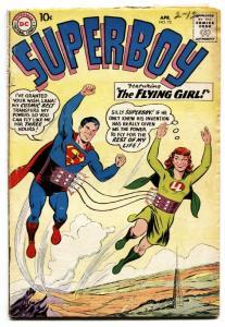 SUPERBOY #72 1959 DC COMICS-SUPERMAN FLYING GIRL ISSUE VG-