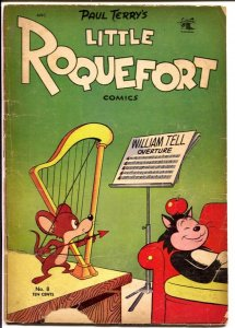 Little Roquefort #8 1953-St John-wacky funny animals-robot stories-FR/G