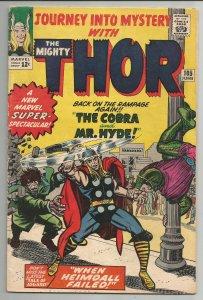 Journey into Mystery #105 - Very Good 4.0 - Cobra & Mr Hyde vs Thor (1964)