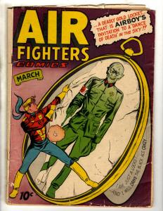 Air Fighters Comics Vol. # 2 # 6 VG 1944 Golden Age Comic Book Nazi Cover JL17