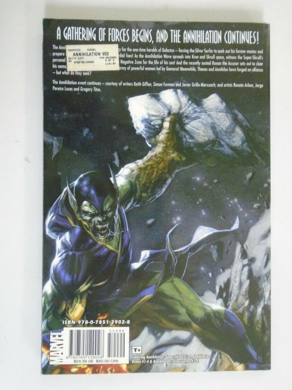 Annihilation TPB #2 SC 6.0 FN price tag on rear (2007 1st Printing)