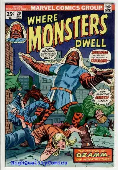 WHERE MONSTERS DWELL #29, VF, Don Heck, 1970, more Bronze age Horror in store