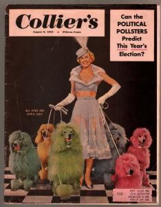 Collier's 8/9/1952-John D MacDonald pulp fiction-Doris Day-VG