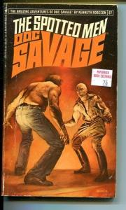 DOC SAVAGE-THE SPOTTED MEN-#87-ROBESON-G-BORIS VALLEJO-1ST EDITION G