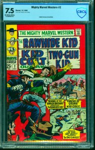 Mighty Marvel Western #2 CBCS VF- 7.5 Off White to White