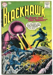 BLACKHAWK #154 1960-DC COMICS-WILD MONSTER COVER SCI FI G