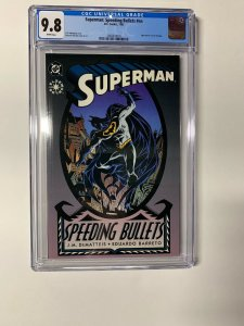 Superman Speeding Bullets 1 Nn Cgc 9.8 White Pages Dc Comics