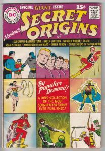 Secret Origins #1 (Aug-61) FN Mid-Grade Superman, Batman, Robin, Challengers,...