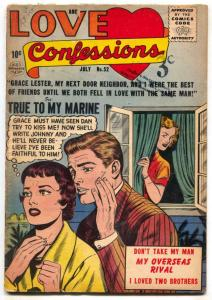 Love Confessions #52 1956- True to My Marine G/VG