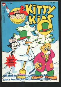 Kitty Kids #20 1980's-Cartoon type humor-German edition-Poster still attached-FN