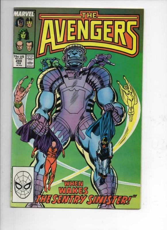 AVENGERS #288, VF/NM, Captain, Sentry, Sub-Mariner, 1963 1988, Marvel
