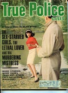TRUE POLICE CASES-DEC 1965 -SPICY-MURDER-KIDNAP-ROBERRY-ROBBERY-vg VG