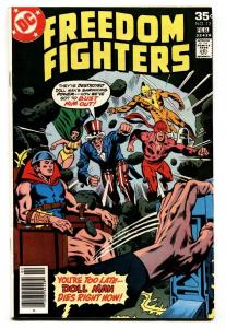 Freedom Fighters #12-1978-First appearance of FIREBRAND-DC