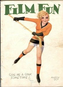 Film Fun March 1932- Enoch Bolles hockey cover FR