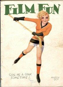 Film Fun March 1932- Enoch Bolles hockey cover FR
