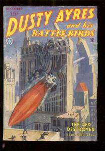 DUSTY AYRES AND HIS BATTLE BIRDS DEC 1934-RED ROCKET!!! VG/FN