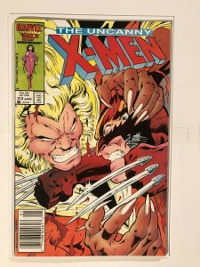 Uncanny X-Men #213 - 2nd Wolverine/Sabretooth Battle - MUTANT MASSACRE CROSSOVER