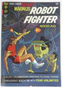 MAGNUS  ROBOT FIGHTER 19  (Gold Key, 8/1967) VG- COMICS BOOK