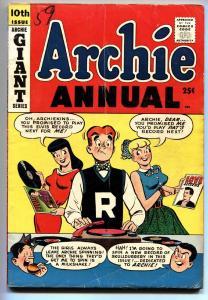 ARCHIE ANNUAL #10 comic book 1958 ELVIS cover BETTY & VEROLNICA REGGIE