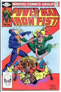 POWER MAN & IRON FIST #82, FN, Luke Cage, 1972 1982, Kung-Fu, 4th Sabretooth