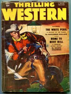 Thrilling Western Pulp September 1951- White Peril- Home to Boot Hill VG