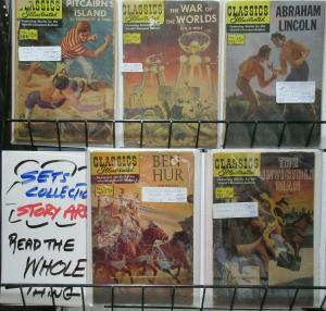 Classics Illustrated UK Edition Lot of 5Diff Rob Roy Iron Mask Spy Lion North ++