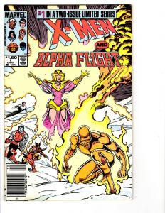 2 X-Men and Alpha Flight Marvel Comic Books #1 2 Wolverine Cyclops Colossus BH29