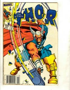 Mighty Thor # 337 FN Marvel Comic Book 1st Beta Ray Bill Odin Loki Sif EK8