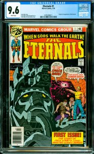 Eternals #1 CGC Graded 9.6 Origin & 1st appearance of the Eternals.