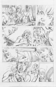 DEAN KOTZ Original Published Art, TRAILER PARK of TERROR #7 page 16,Zombies