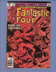 Fantastic Four #220 FN 1st Byrne Story Origin Avengers Vindicator Marvel 1980