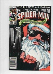 Peter Parker SPECTACULAR SPIDER-MAN #112 VF+, Santa 1976 1986 more in store UPC