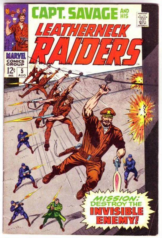 Captain Savage and His Leatherneck Raiders #5 (Aug-68) FN/VF Mid-High-Grade C...