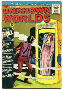 Unknown Worlds #36 1964- ACG Silver Age- Man Was Executed G