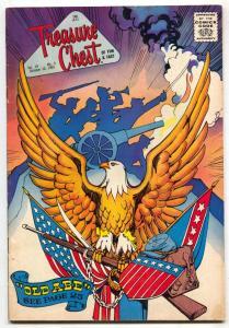 Treasure Chest Vol. 19 #3 1963-AMERICAN FLAG & EAGLE cover